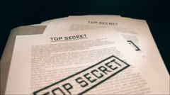 Top secret documents. - stock footage