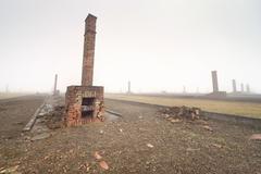 Nazi concentration camp Auschwitz I - stock photo