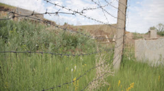 The thorny hedge of rocket base Stock Footage