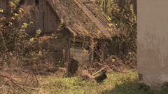 Abandoned house in Chernobyl Stock Footage
