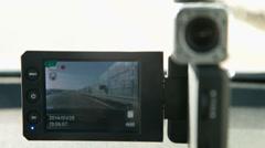 Car video surveillance DVR Stock Footage