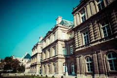 Luxemburg palace in paris Stock Photos