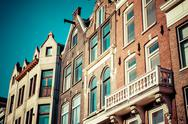 Stock Photo of traditional architecture in amsterdam, the netherlands.