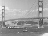 Stock Video Footage of San Francisco Bridge in 1930-s