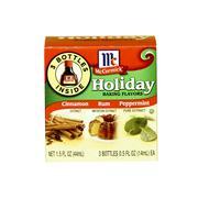 Box of mccormick holiday baking flavors Stock Photos