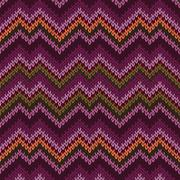 seamless knitted pattern - stock illustration