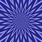 Blue and White Rippling Star - stock illustration
