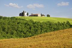 Farmhouse in tuscany, italy Stock Photos
