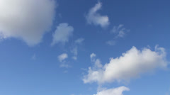 Fluffy Cloud Timelapse Stock Footage
