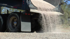 Truck Delivers Decorative Gravel Stock Footage