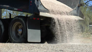 Stock Video Footage of Truck Delivers Decorative Gravel