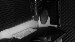Vocal booth recording studio Stock Photos