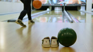 Stock Video Footage of Playing bowling