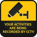 Stock Illustration of CCTV pictogram, video surveillance sign
