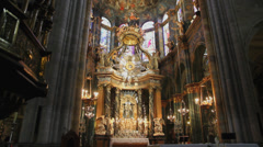 Interior Cathedral of Lugo Stock Footage