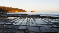 tessellated pavement eaglehawk neck - stock footage