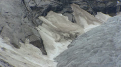 NIGARDSBREEN, NORWAY: glacier full screen + pan - moraine debris Stock Footage