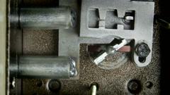 Key turning inside lock Stock Footage