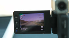 Portable car dvr digital video recorder Stock Footage