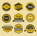 Stock Illustration of Taxi insignia, vintage style