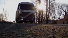 Trucks On Highway HD Stock Footage