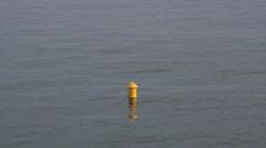 Buoy harbor mooring sea waves ship Stock Footage