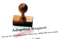 adoption request - stock photo