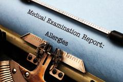 Medical report - allergies Stock Photos
