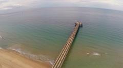 Pompano Beach pier Stock Footage