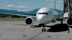 Airbus A330 Airplane Gating Stock Footage