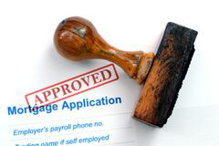 Mortgage application - approved Stock Photos