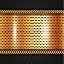 Stock Illustration of Golden metallic surface