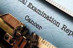 medical report - cancer - stock photo