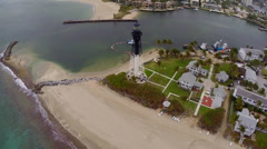 Pompano FL Lighthouse Stock Footage