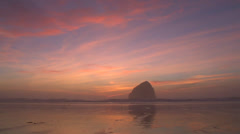 Final Light at Oregon Coast Stock Footage
