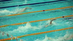Start competitive swimming Stock Footage