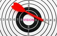 Stock Photo of vision target concept