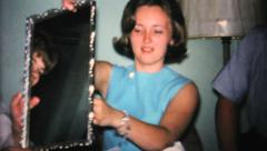 Opening Gifts At Bridal Shower Party-1967 Vintage 8mm film Stock Footage