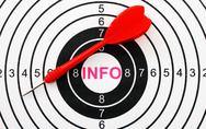 Stock Photo of info target concept