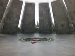 Armenian Genocide Memorial, Yerevan - stock photo