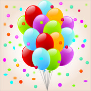Ballon-Confetis - stock illustration