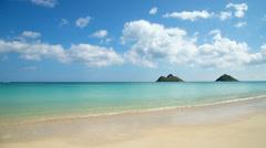 Stock Video Footage of Tropical sandy beach timelapse in Lanikai Hawaii