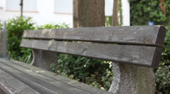 Bench in Germany - stock footage
