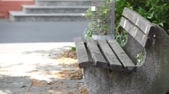 Park Bench in Germany - stock footage