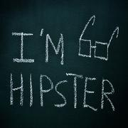 i am hipster - stock photo