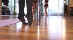 Pole dance training HD Stock Footage