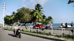 Traveling through San Andres Island Stock Footage