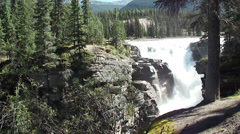 Rocky Mountain Waterfall Jasper National Park 4 Stock Footage