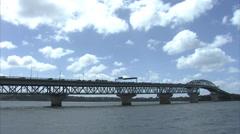 Auckland Harbour Bridge Stock Footage