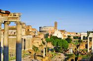Stock Photo of roman forum in rome, italy